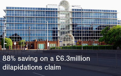 88% saving on Dilapidations Claim