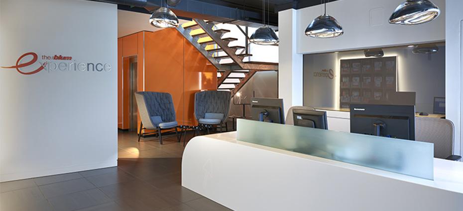 Blum UK Reception Area